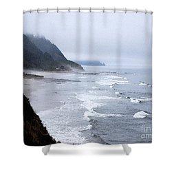 Beach Frontage In Monet Shower Curtain
