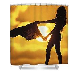 Beach Girl Shower Curtain