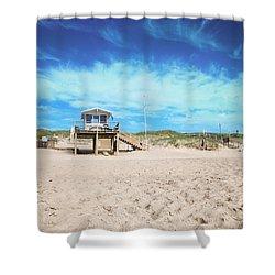 Beach Guard - Sylt Shower Curtain by Hannes Cmarits