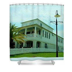 Beach House - Bay Saint Louis Mississippi Shower Curtain by Deborah Lacoste
