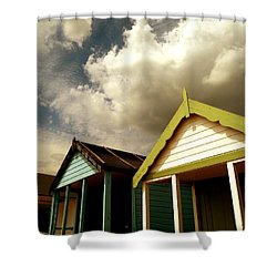 Shower Curtain featuring the photograph Beach Huts by Vicki Spindler