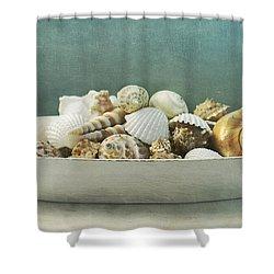Beach In A Bowl Shower Curtain by Priska Wettstein
