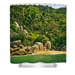 Beach In Mexico Shower Curtain by Elena Elisseeva