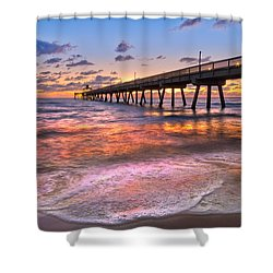Beach Lace Shower Curtain by Debra and Dave Vanderlaan