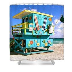 Beach Life In Miami Beach Shower Curtain