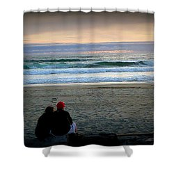 Beach Lovers Shower Curtain by Susan Garren