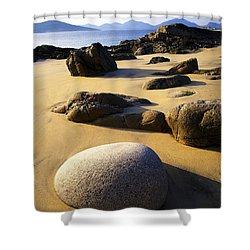Beach Of Gold Shower Curtain