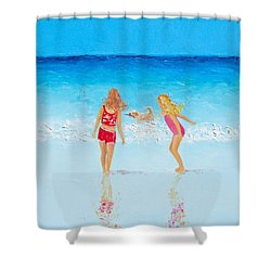 Beach Painting Beach Play Shower Curtain