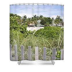 Shower Curtain featuring the photograph Beach Path by Laurie Perry