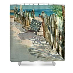 Beach Patterns Shower Curtain