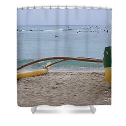 Beach Play Shower Curtain by Mary Deal
