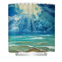 Beach Shower Curtain by Robin Maria Pedrero
