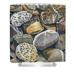 Beach Rocks 4 Shower Curtain