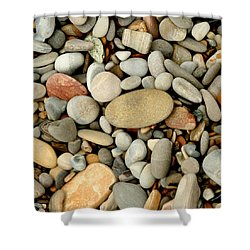 Beach Rocks Shower Curtain by Art Block Collections