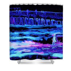 Beach Scene At Night Shower Curtain