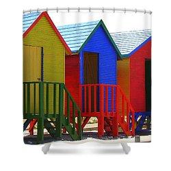 Beach Shacks Shower Curtain by Ramona Johnston