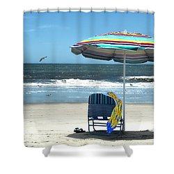 Beach Solitude Shower Curtain by Sandi OReilly