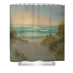 Cape Cod Beach Sunset Dunes Print  Shower Curtain