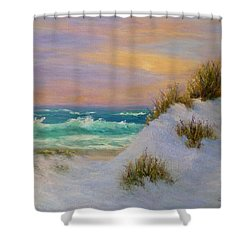 Beach Sunset Paintings Shower Curtain