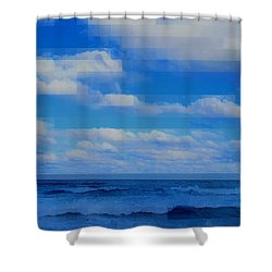 Beach Through Artificial Eyes Shower Curtain
