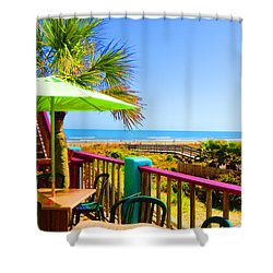 Beach View Of The Ocean By Jan Marvin Studios Shower Curtain