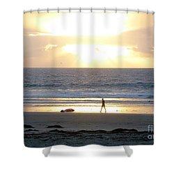 Beachcomber Encounter Shower Curtain