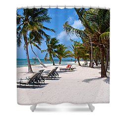 Beachy Belize Shower Curtain by Kristina Deane