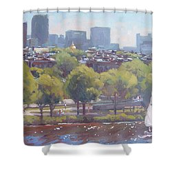 Beacon Hill Shower Curtain by Dianne Panarelli Miller