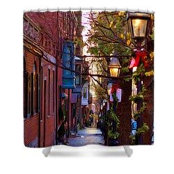 Beacon Hill Streets Shower Curtain by Joann Vitali