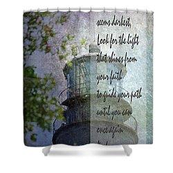 Beacon Of Hope Inspiration Shower Curtain by Judy Hall-Folde