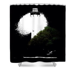 Shower Curtain featuring the digital art Beacon Of Light by Anthony Fishburne
