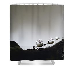 Beads Of Rain With Particles Floating Shower Curtain by Dan Friend