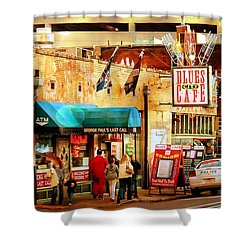Beale Street Shower Curtain by Barbara Chichester