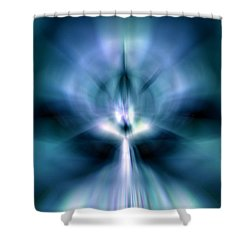 Beam Me Up Shower Curtain by Peter R Nicholls