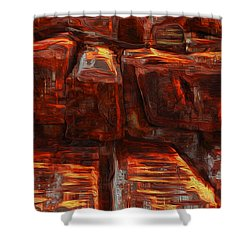 Beams Shower Curtain by Jack Zulli