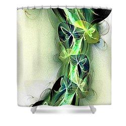Beanstalk Shower Curtain by Anastasiya Malakhova