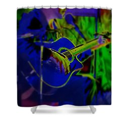 Shower Curtain featuring the photograph Beanstalk by Thomasina Durkay