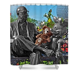 Bear And His Mentors Walt Disney World 03 Shower Curtain by Thomas Woolworth