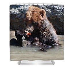 Bear Cub Shower Curtain by DejaVu Designs