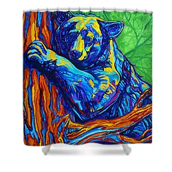 Bear Hug Shower Curtain by Derrick Higgins