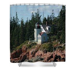 Bear Island Lighthouse Shower Curtain by Kathleen Struckle
