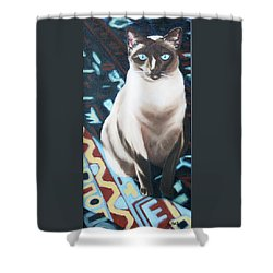 Shower Curtain featuring the painting Bear by Nancy Jolley