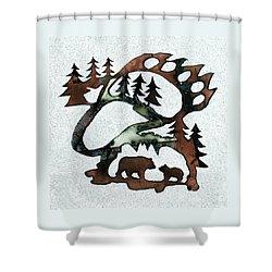 Bear Paw II 21 Shower Curtain