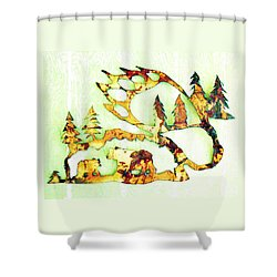 Shower Curtain featuring the photograph Bear Track 8 by Larry Campbell