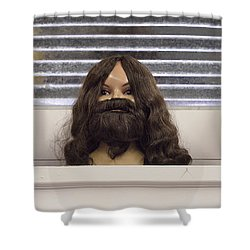 Bearded Lady Shower Curtain
