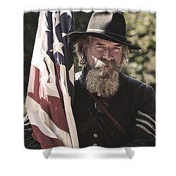Bearing Old Glory D0256 Shower Curtain by Wes and Dotty Weber
