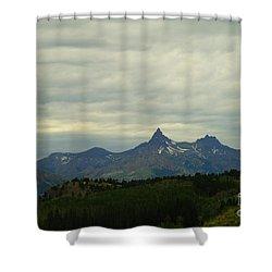 Beartooth Mountain Montana Shower Curtain by Jeff Swan