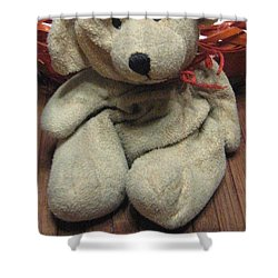 Beary Takes A Break Shower Curtain