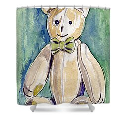 Beary Well Thank You Shower Curtain by Julie Maas