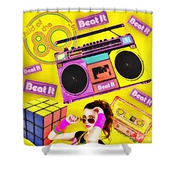 Beat It Shower Curtain by Mo T